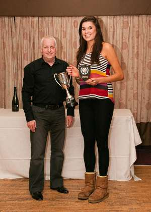 Sam Ward receives her first ever Northern Squash Club Ladies Championship