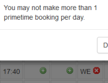 Allow multiple bookings